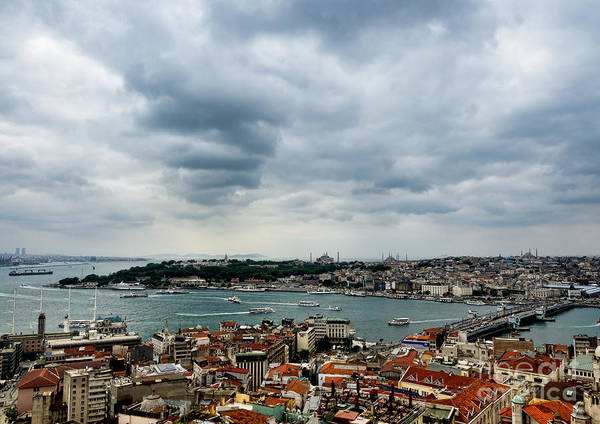 Bosphorus Bridge Photograph - Panorama Of The Golden Horn In Istanbul by Frank Bach