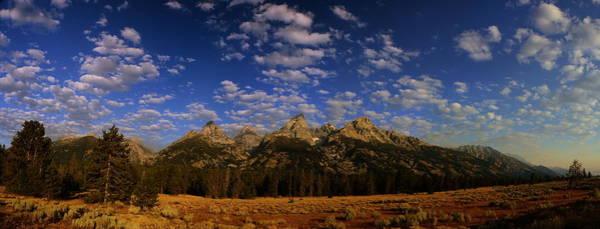 Photograph - Panorama Of The Tetons by Raymond Salani III