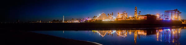 Photograph - Panorama - Santa Cruz Boardwalk by Scott Campbell
