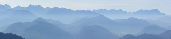 Wall Art - Photograph - Panorama View Of The Bavarian Alps by Rudi Prott