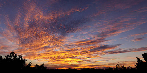 Wall Art - Photograph - Panoramic Hill Country Sunset by Paul Huchton