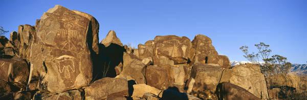 Wall Art - Photograph - Panoramic Image Of Petroglyphs At Three by Panoramic Images
