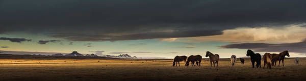 Wall Art - Photograph - Panoramic Landscape Of Iceland With by Coolbiere Photograph