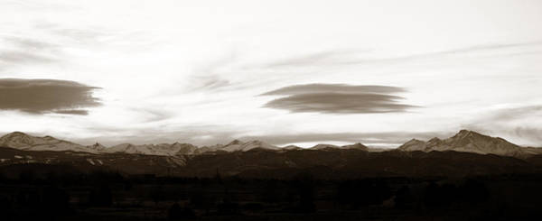 Photograph - Panoramic Lenticular Clouds  by Marilyn Hunt