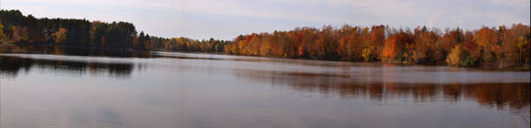 Wall Art - Photograph - Panoramic Of Fall At Homme Pond by Thomas Young