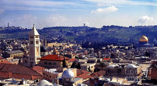 Wall Art - Photograph - Panoramic Of Jerusalem by Thomas R Fletcher