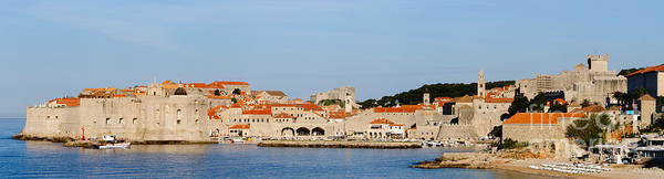 Lokrum Photograph - Panoramic Of The City Of Dubrovnik by Oscar Gutierrez