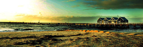 Photograph - Panoramic Photo Of Busselton Jetty by Yew Kwang