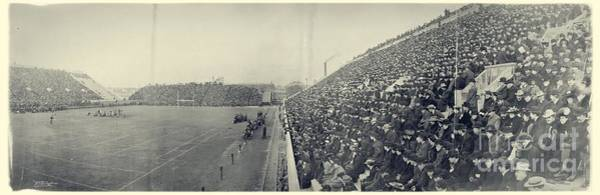 Harvard University Photograph - Panoramic Photo Of Harvard  Dartmouth Football Game by Edward Fielding