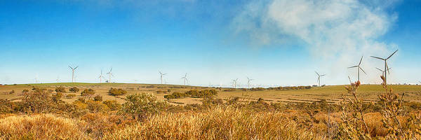 Photograph - panoramic photo of Wind Turbines by Yew Kwang