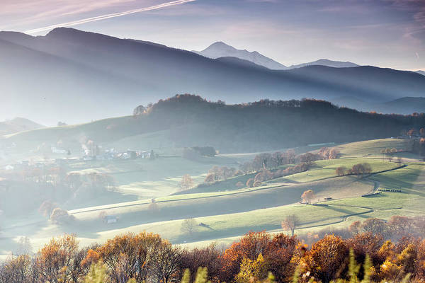 Panoramic Photograph Taken From Lourdes Art Print