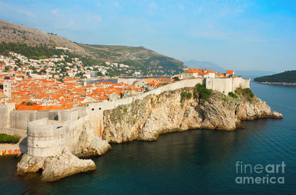 Lokrum Photograph - Panoramic Sea View Of Old Dubrovnik With The Bay And The City Wa by Kiril Stanchev