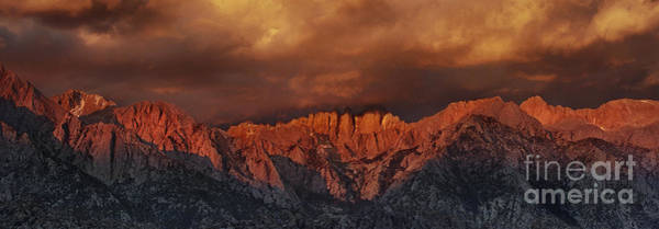 Photograph - Panoramic Sunrise Storm Alabama Hills Californiama Hills California by Dave Welling