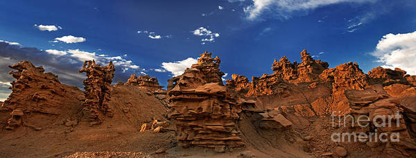 Photograph - Panoramic Sunset Light On Sandstone Formations Fantasy Canyon  by Dave Welling