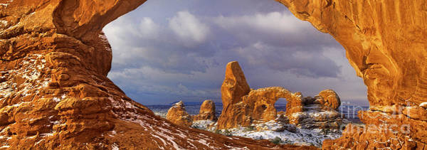 Photograph - Panoramic Turret Arch Arches National Park Utah by Dave Welling