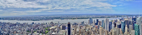 Photograph - Panoramic View From The Empire State Building by Theodore Jones