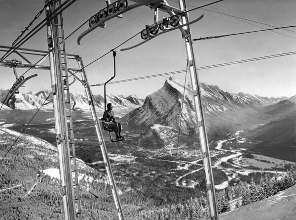 Parks And Recreation Photograph - Panoramic View In Alberta by Underwood Archives