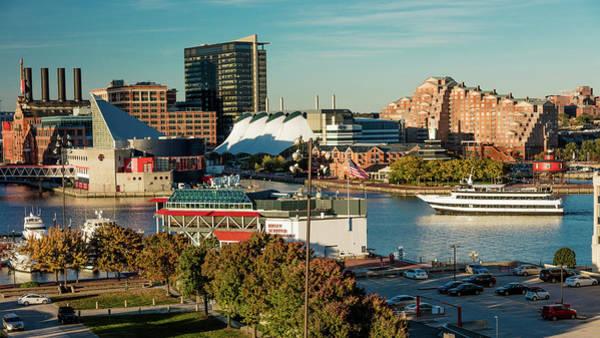 National Aquarium Photograph - Panoramic View Of Baltimore Inner by Panoramic Images