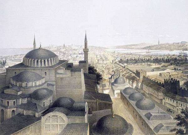 Panoramic View Of Constantinople Art Print