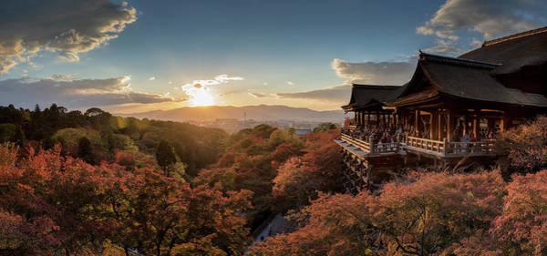 Japanese Culture Photograph - Panoramic View Of Kiyomizu-dera by Nitichuysakul Photography