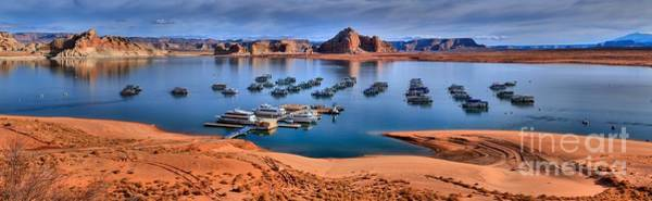 Houseboat Photograph - Panoramic View Of Lake Powell by Adam Jewell