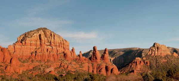 Stoney Photograph - Panoramic View Of Red-rock Mountains by Jan and Stoney Edwards
