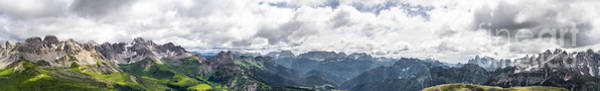 Photograph - Panoramic View Of San Pellegrino Pass by Pier Giorgio Mariani