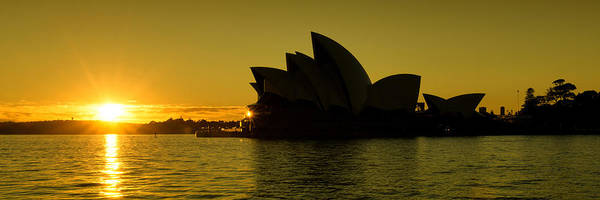 Photograph - Panoramic View Of Sunrise At Sydney Opera House by Yew Kwang