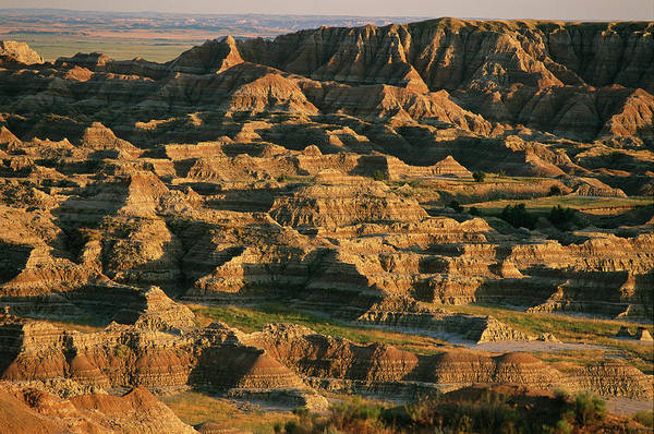 North Dakota Badlands Wall Art - Photograph - Panoramic View Of The Badlands Sage by Annie Griffiths