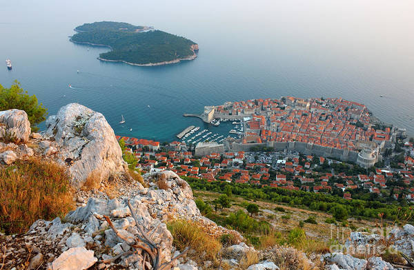 Lokrum Photograph - Panoramic View Of The Old Town Dubrovnik And Island Lokrum by Kiril Stanchev