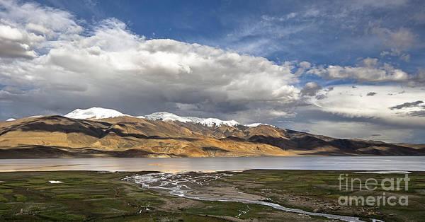 Photograph - Panoramic View Of Tso Moriri by Hitendra SINKAR