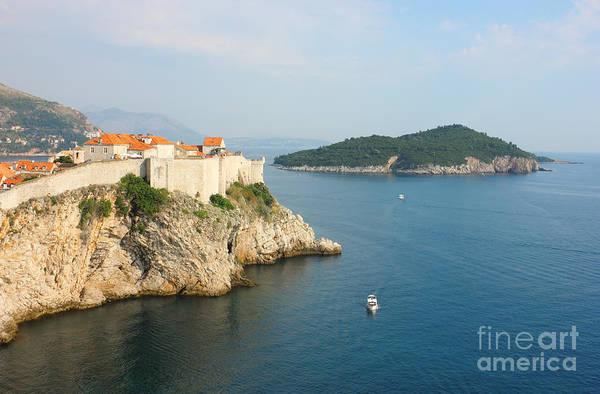 Lokrum Photograph - Panoramic View Toward Old Town Dubrovnik And Island Lokrum by Kiril Stanchev