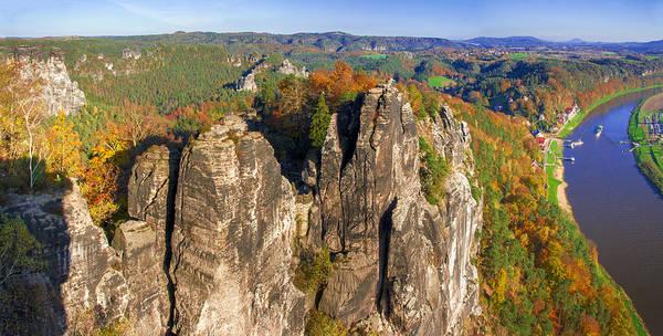Panoramic Views Of Neurathen Castle Art Print