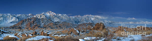 Photograph - Panoramic Winter Dawn Alabama Hills Eastern Sierras California by Dave Welling