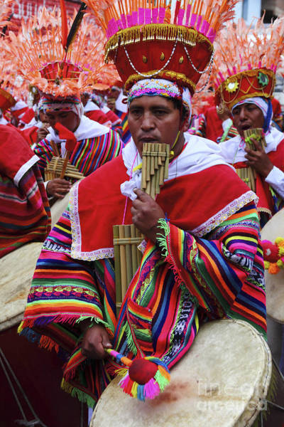 Photograph - Panpipe Musician Peru by James Brunker