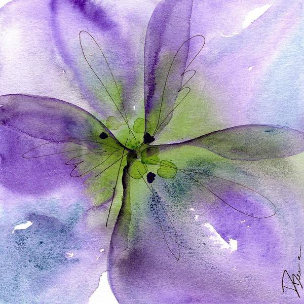 Painting - Pansy 1 by Dawn Derman