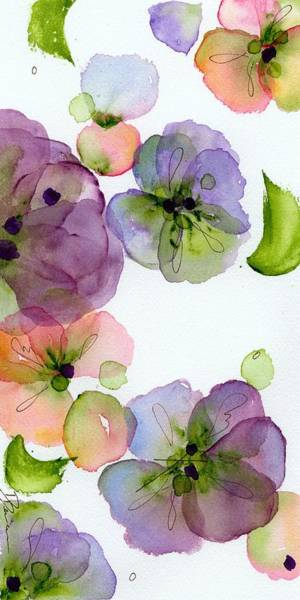 Painting - Pansy Fall by Dawn Derman