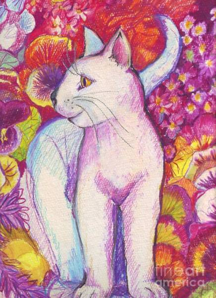 Tabby Drawing - Pansy The Cat by Susan Brown    Slizys art signature name