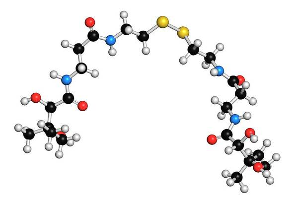 Chronic Wall Art - Photograph - Pantethine Molecule by Molekuul