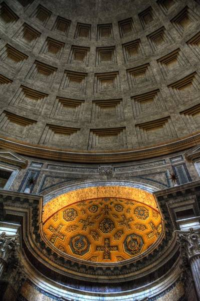 Pantheon Ceiling Detail Art Print