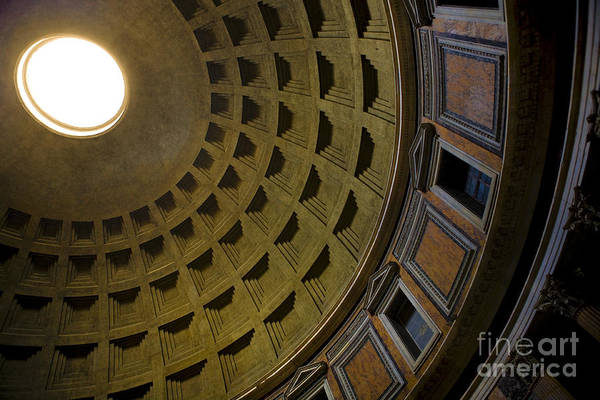 Oculus Wall Art - Photograph - Pantheon Dome Interior by Diane Diederich