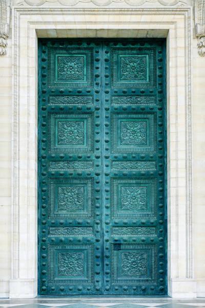 Pantheon Wall Art - Photograph - Pantheon Doors In Paris by Zoonar/j.wachala
