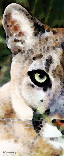 Painting - Panther Art - Florida's Feline by Sharon Cummings