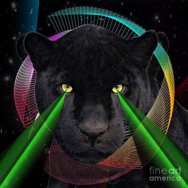 Cool Cat Digital Art - Panther by Mark Ashkenazi