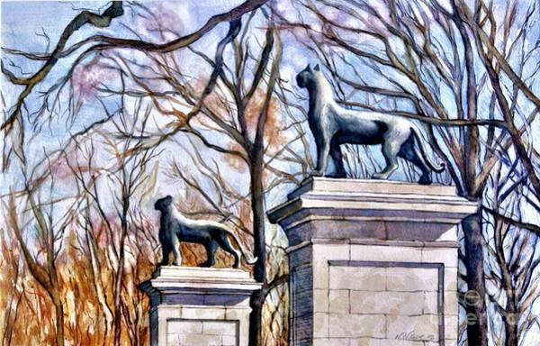Painting - Panthers At The Gate by Nancy Wait
