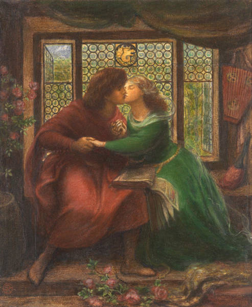 Gabriel Painting - Paolo And Francesca Da Rimini by Dante Gabriel Rossetti