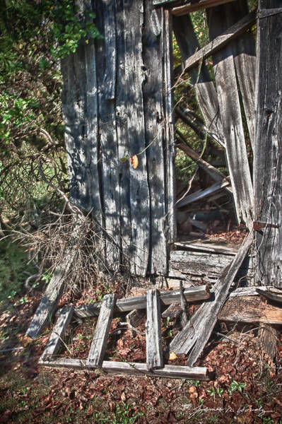 Photograph - Papa Sandy's Storage Shed by James Woody