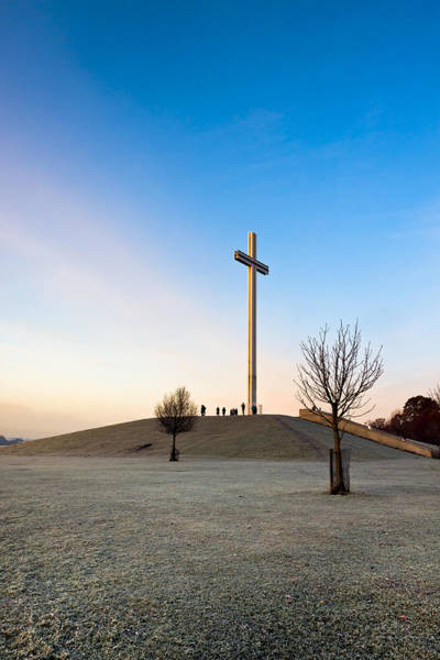Photograph - Papal Cross On A Frosty Day In Dublin by Mark E Tisdale