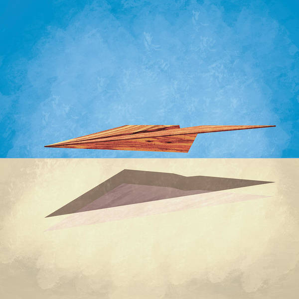 Glider Wall Art - Photograph - Paper Airplanes Of Wood 14 by YoPedro