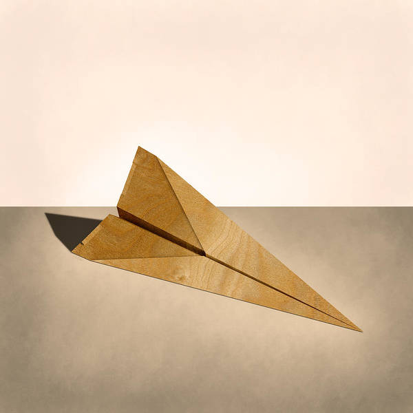 Glider Wall Art - Photograph - Paper Airplanes Of Wood 15 by YoPedro